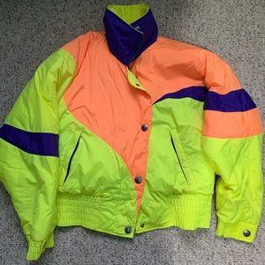 Retro puffy winter jacket